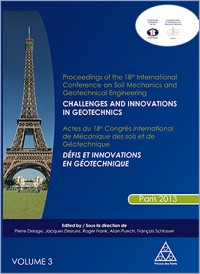 Actes du 18e Congrès International de Mécanique des sols et de Géotechnique - Vol. 3 / Proceedings of the 18th International Conference on Soil Mechanics and Geotechnical Engineering - Vol. 3